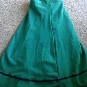 Flared ModCloth green  Mid calf skirt